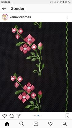 Cross Stitch Boarders, Tiny Cross Stitch, Cross Stitch Flowers, Cross Stitch Designs, Cross Stitch Patterns, Embroidery Stitches Tutorial, Flower Embroidery Designs, Cross Stitch Embroidery, Baby Knitting Patterns