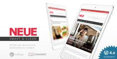 NEUE - Smart & Modern Magazine Theme . NEUE has features such as High Resolution: Yes, Widget Ready: Yes, Compatible Browsers: IE11, Firefox, Safari, Opera, Chrome, Edge, Compatible With: WPML, BuddyPress 2.5.x, BuddyPress 2.4.x, BuddyPress 2.3.x, BuddyPress 2.2.x, BuddyPress 2.1.x, BuddyPress 2.0.x, WooCommerce 2.6.x, WooCommerce 2.5, WooCommerce 2.4.x, WooCommerce 2.3.x, WooCommerce 2.2.x, WooCommerce 2.1.x, bbPress 2.5.x, Software Version: WordPress 4.5.x, WordPress 4.5.2, WordPress…