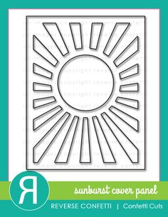 The Sunburst Cover Panel Confetti Cuts die is perfect for making cards, but can also easily be added to scrapbook pages and other paper crafting projects.  Our DETAILED CIRCLES Confetti Cuts die set pairs perfectly with it, too!
