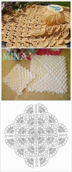 New Crochet Top Diagram Charts Granny Squares Ideas – Granny Square Shawl Crochet, Beau Crochet, Crochet Diagram, Crochet Chart, Love Crochet, Crochet Motif, Crochet Top, Crochet Stitches Patterns, Crochet Designs