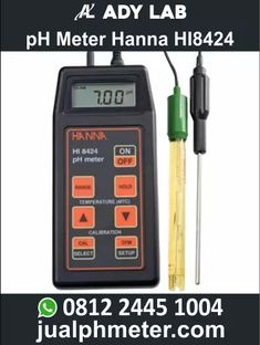 pH Meter Hanna HI8424 | Ady Water Jual pH Meter Portable Digital untuk Industri | Air Limbah Ph Meter, Measuring Instrument, Instruments, Bench, Stainless Steel, Range, Products, Cookers, Desk