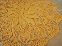 Crochet Doily Mini Tablecloth in  sunflower by Namaoy on Etsy, $34.00