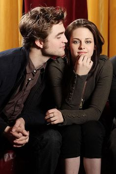 (Rob Patterson) Edward and (Kristen Stewart) Bella.  Edward + Bella = ❤ !