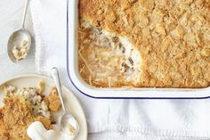 Rice Pudding Crumble Easy Desserts, Delicious Desserts, Dessert Recipes, Rice Desserts, Healthy Desserts, Dessert Ideas, Yummy Recipes, Free Recipes, Healthy Food