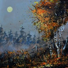 In the Woods oil painting by  Pol Ledent