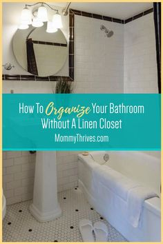 Bathroom Organization Tips for Small Apartments - Declutter and Organize Bathroom Clutter - Small Apartment Organization Tips and Tricks Declutter Your Home, Organizing Your Home, Organizing Ideas, Organization Hacks, Small Apartment Organization, Organizing Clutter, Bathroom Organization, Small Apartments, Small Spaces