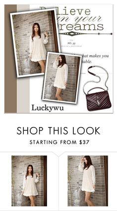 """# I/3 Luckywu"" by lucky-1990 ❤ liked on Polyvore featuring women's clothing, women's fashion, women, female, woman, misses and juniors"
