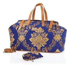 Joy Mangano Vintage Chic Golden Brocade Regal Carpet Bag #JM #TotesShoppers