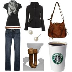 Scarf. And coffee  #style #fashion