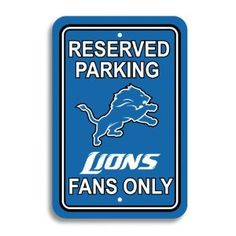 Detroit Lions Parking Sign