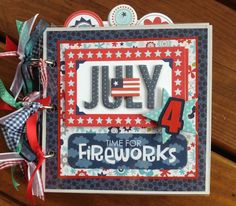 Artsy Albums Scrapbooking Kits and Custom Designed Scrapbook Albums by Traci Penrod: Celebrating July 4th with a New Mini Album and Two Winners!