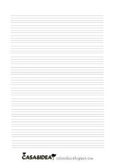 CASA&IDEA: Papel de caligrafia para imprimir