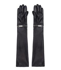 Womens Karine Long Gloves (Black) | ALLSAINTS.com