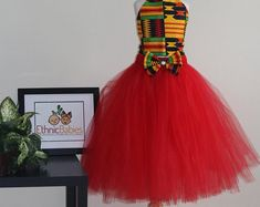 african dress styles Handmade African clothing accessories & tutus for by Ethnicbabies African Dresses For Kids, African Prom Dresses, Latest African Fashion Dresses, Sepedi Traditional Dresses, Robes Tutu, Girls Formal Dresses, African Attire, Clothing Accessories, Swag Dress
