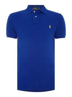 f8e9143734a8 Wholesale store Polo Ralph Lauren Custom-Fit Short-Sleeve Polo Shirt -  Midnight Blue Mens Polo Ralph Lauren Polo Shi