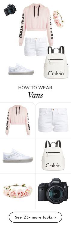 """""""Cochella vides"""" by marissamiller-1 on Polyvore featuring Calvin Klein, Frame, Vans, Eos and Forever 21"""