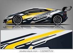 Sport Car Racing Car wrap livery design. Ready print graphic design vector eps.