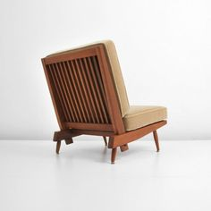 Spindle Back lounge chair by George Nakashima; c. 1955 (Key Word Search: Noguchi, American craft studio movement, Wendell Castle, Sam Maloof, Wharton)  Dimensions: 32h, 24.5w, 30d