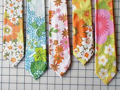 neckties from vintage fabrics