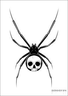 Google Image Result for http://th04.deviantart.net/fs71/PRE/i/2011/041/7/b/skull_spider_tattoo_02_by_sickboy84-d397om1.png