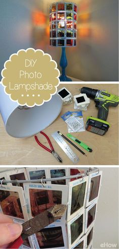 Use your favorite photos to make a cool lampshade!  Using 35mm slides, you can make this vintage piece of art really shine: http://www.ehow.com/how_5541988_make-photo-lampshade.html?utm_source=pinterest.com&utm_medium=referral&utm_content=inline&utm_campaign=fanpage