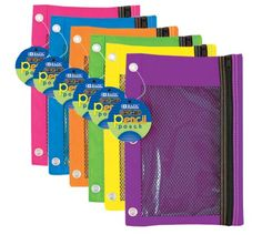 BAZIC Bright Color 3-Ring Pencil Pouch with Mesh Window, Color may vary, 1 item Bazic http://www.amazon.com/dp/B005177VPE/ref=cm_sw_r_pi_dp_7aBXub0BCMQYQ