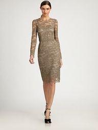 An elegant lace dress