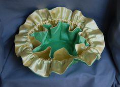 Mello Yello Interior View - Beautiful Taffeta/Satin Travel/Storage Jewelry Bag.   WWW.BANGARUBAGS.COM