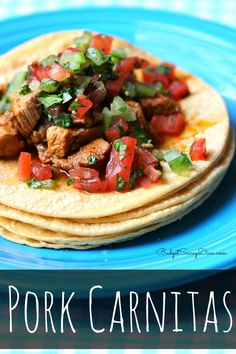 Fresh and Tasty! Gluten - Free and Dairy Free. Recipe enough for 6 cost is under $10 - Pork Carnitas Recipe