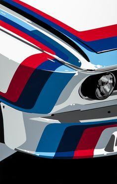 BMW M. hand-cut vinyl motorsport art. Moew at www.joelclarkartist.carbonmade.com