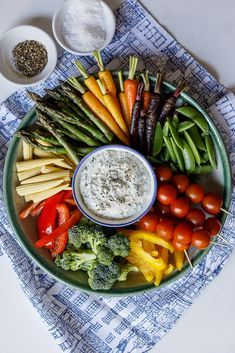 Crudité platter with