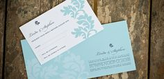 Damask Invitation by LauraK Design