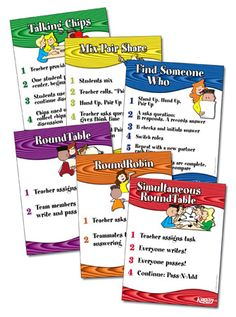 Kagan Strategy Posters | Cooperative Learning- Kagan | Pinterest ...