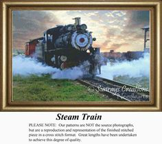 Nostalgia Trains Counted Cross Stitch Patterns and Kits