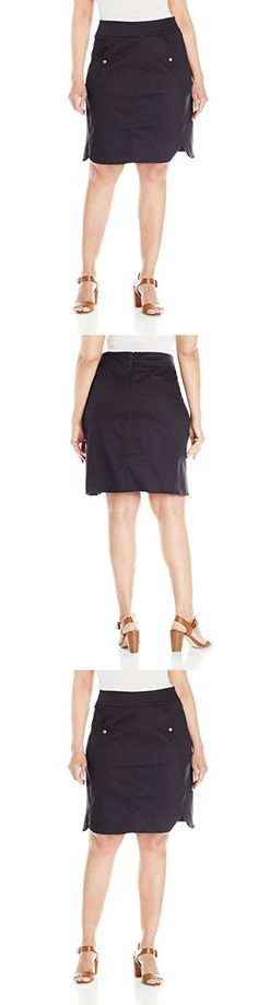 Modamix Women's Plus Size Dolphin Hem Pencil Skirt, Black Onyx, 20W