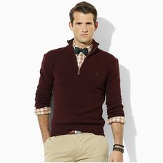 Color scheme! Ralph Lauren Men Sweaters PORLSWTM0250 cheap price
