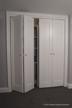 Upscale idea for closet doors - photo only DJ's Home Improvements