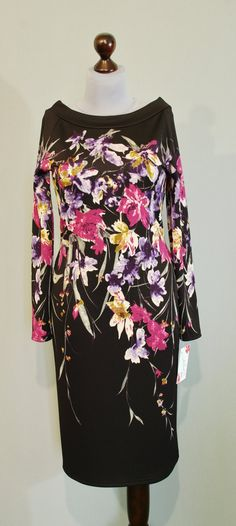 купить миди платье с ирисами, рукав реглан, Платье-терапия
