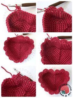 New ideas crochet heart basket pattern Free Form Crochet, Quick Crochet, Love Crochet, Crochet Baby, Knit Crochet, Crochet Basket Pattern, Crochet Patterns, Crochet Baskets, Crochet Crafts
