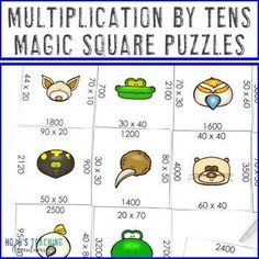 Multiplying by 10s Math Centers, Games, Test Prep, Activities, or Review | 3rd, 4th, 5th grade, Activities, Games, Homeschool, Math, Math Centers, Math Test Prep