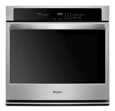 Whirlpool Self-cleaning Single Electric Wall Oven (Stainless Steel) (Common: 27 Inch; Actual at Lowe's. Add a sleek, modern accent to the kitchen with the cu. single wall oven and the new EasyView™ extra-large oven window. Its extra-large Cleaning Oven Racks, Self Cleaning Ovens, Electric Wall Oven, Single Wall Oven, Oven Canning, Keep Food Warm, Large Oven, Stainless Steel Oven, Doilies