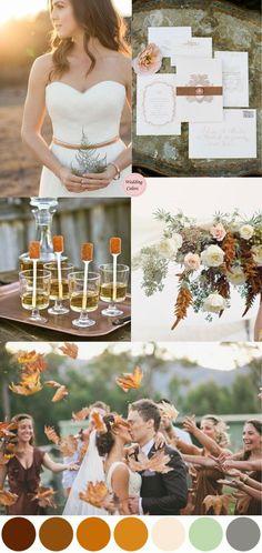 Copper, Topaz, Blush Pink & Sage Wedding Color Inspiration