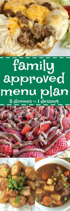 Family menu plan that your entire family will love! Easy, family-approved, simple ingredients, and delicious food to enjoy together | togetherasfamily.com