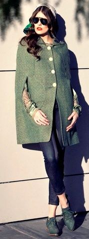 love the coat/cape and love the color and texture