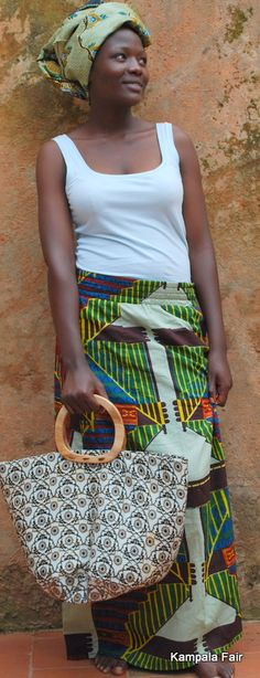 Kampala Fair skirt and a bag from Kikapu by Furaha B  Fairtrade always.