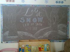January's chalk board at the daycare...