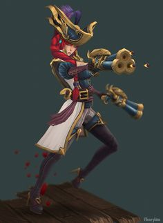 Captain Fortune by Yekaterina Bourykina 3d Model Character, Character Modeling, Game Character, Character Design, 3d Modeling, Miss Fortune, League Of Legends Characters, Female Characters, Digital Sculpting