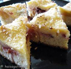 Prajitura cu prune, mere si budinca Anul Nou, Cheesecake, Pie, Desserts, Food, Torte, Tailgate Desserts, Cake, Deserts