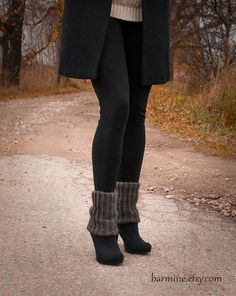 Mohair Hand Knit Boot toppers Boot Cuffs Legwarmers by barmine