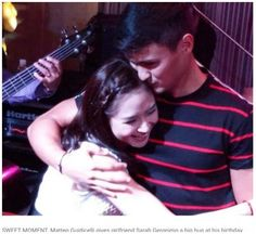 nice Matteo Guidicelli stays to be smiling after Sarah Geronimo's birthday surpise Geronimo, Things I Want, Smile, Couple Photos, News, World, Birthday, Journey, Check